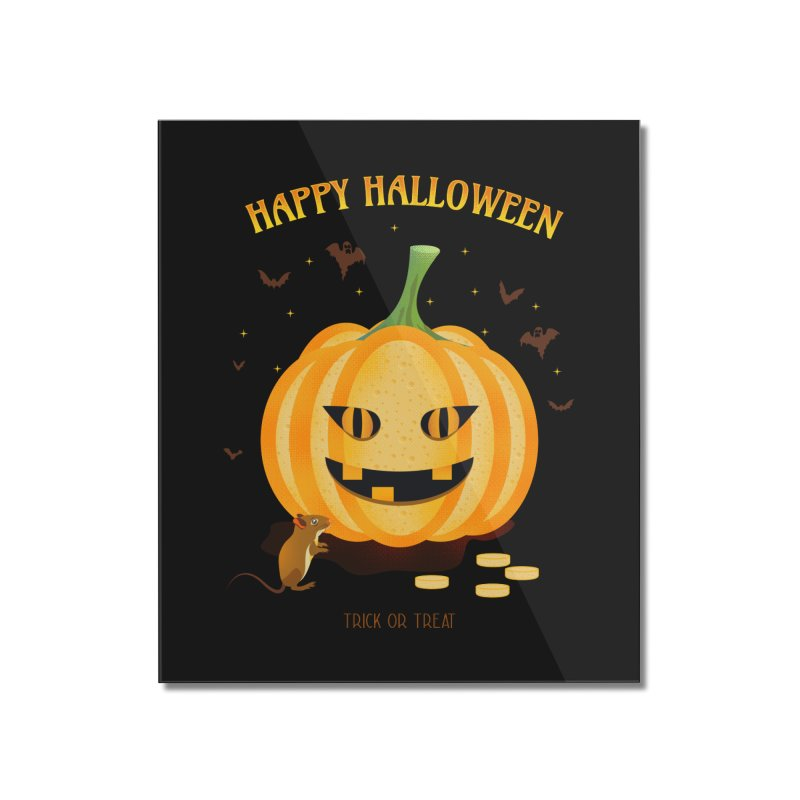 Trick or Treat Home Mounted Acrylic Print by eligodesign's Artist Shop