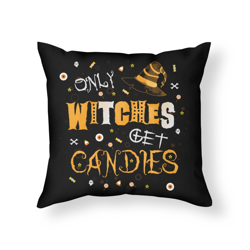 Only Witches Home Throw Pillow by eligodesign's Artist Shop
