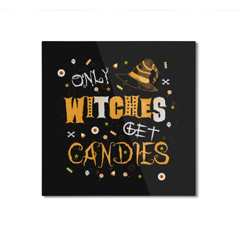 Only Witches Home Mounted Aluminum Print by eligodesign's Artist Shop