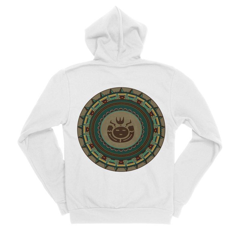 Tribal Face Glyph Women's Zip-Up Hoody by eligodesign's Artist Shop