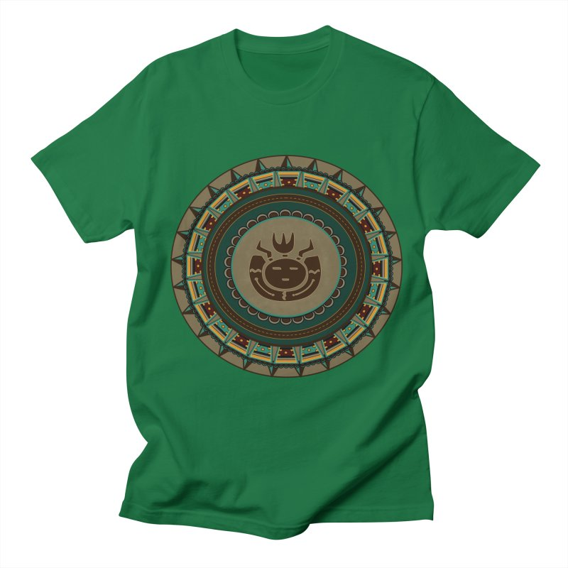 Tribal Face Glyph Men's T-Shirt by eligodesign's Artist Shop