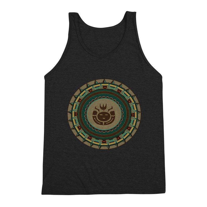 Tribal Face Glyph Men's Tank by eligodesign's Artist Shop