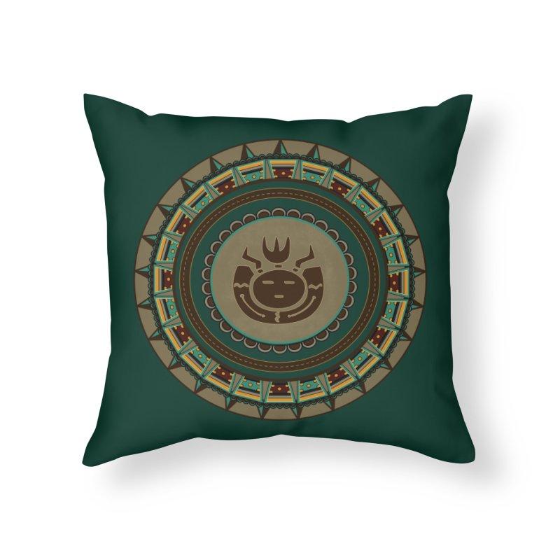 Tribal Face Glyph Home Throw Pillow by eligodesign's Artist Shop