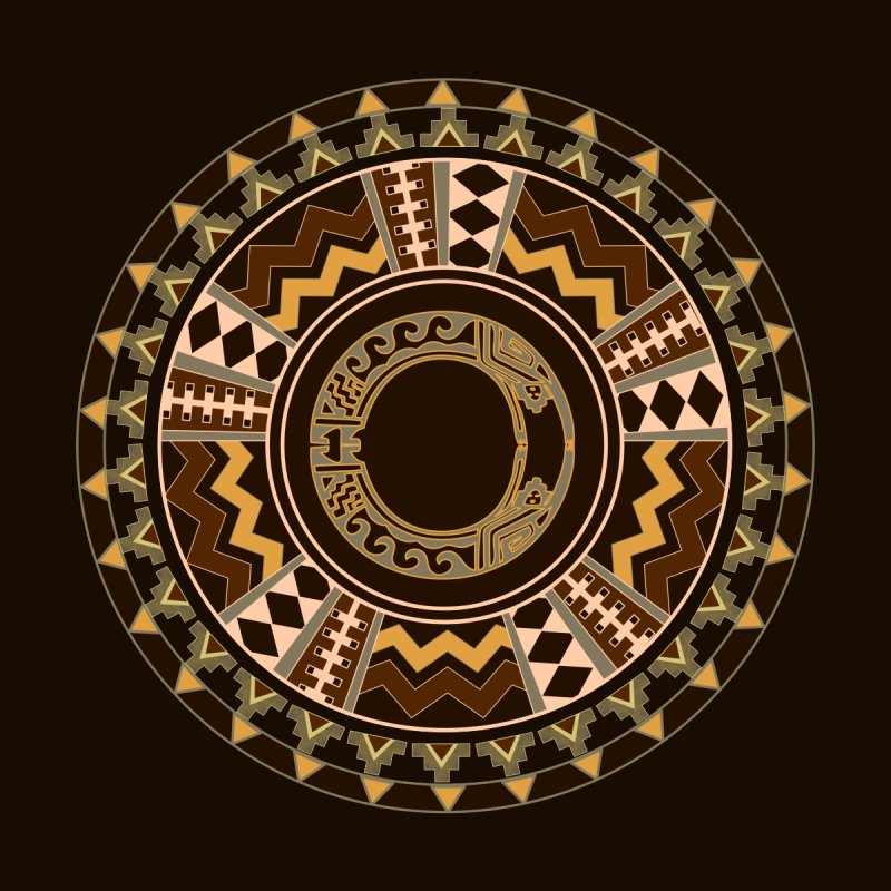 Tribal Dance Mandala Men's T-Shirt by eligodesign's Artist Shop