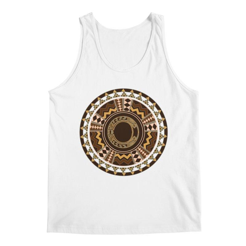 Tribal Dance Mandala Men's Tank by eligodesign's Artist Shop