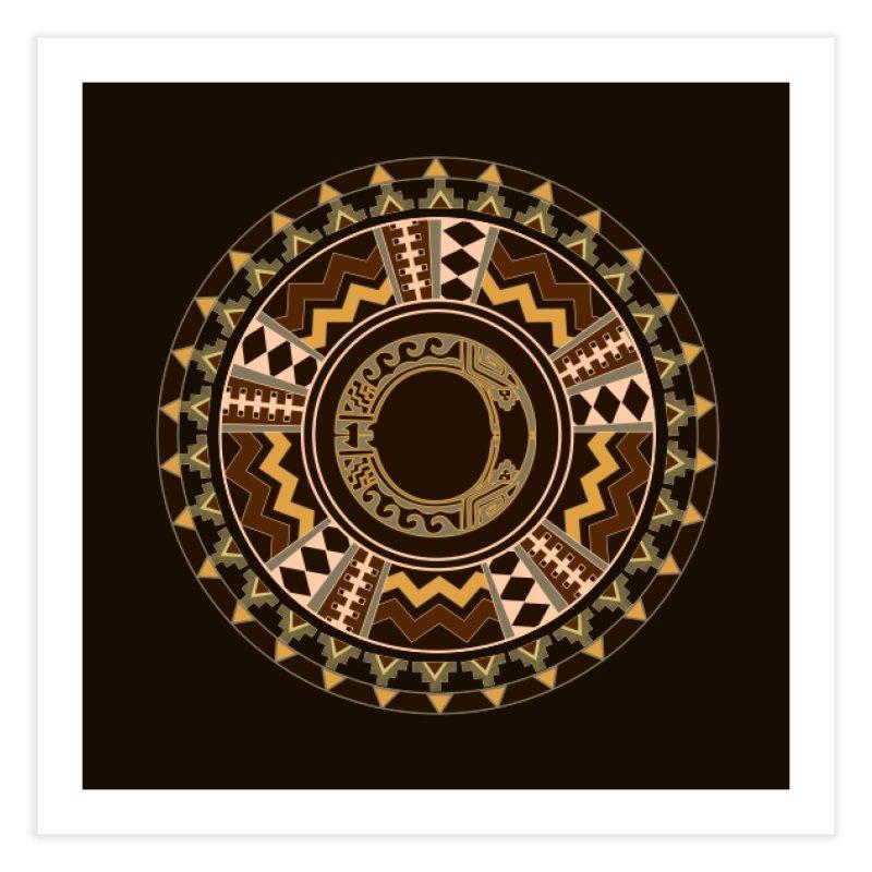 Tribal Dance Mandala Home Fine Art Print by eligodesign's Artist Shop