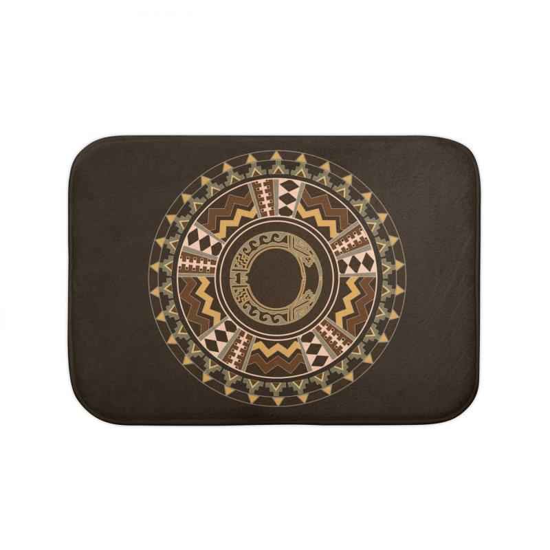 Tribal Dance Mandala Home Bath Mat by eligodesign's Artist Shop