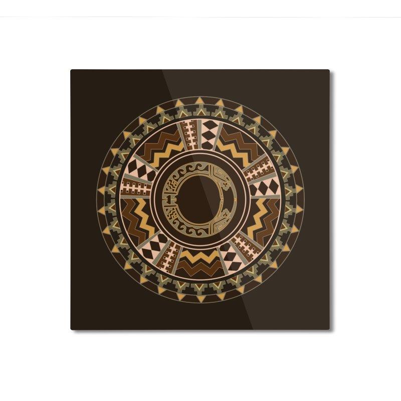 Tribal Dance Mandala Home Mounted Aluminum Print by eligodesign's Artist Shop