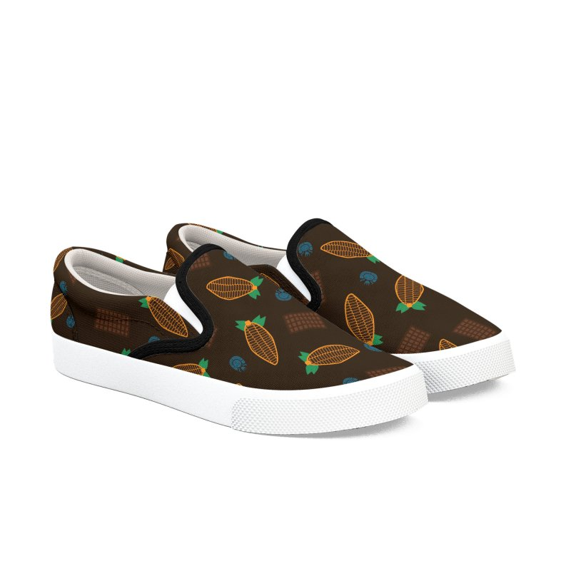 Xocolatl Cocoa Pattern Men's Shoes by eligodesign's Artist Shop