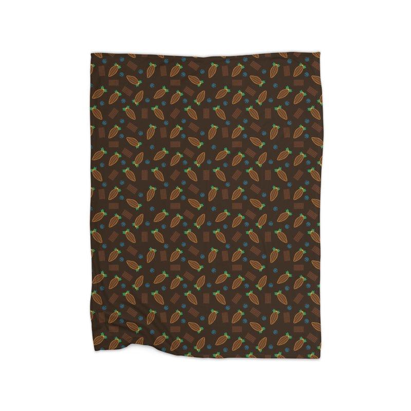 Xocolatl Cocoa Pattern Home Blanket by eligodesign's Artist Shop