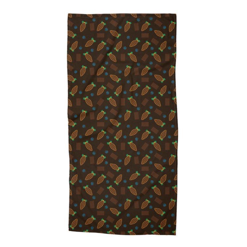 Xocolatl Cocoa Pattern Accessories Beach Towel by eligodesign's Artist Shop