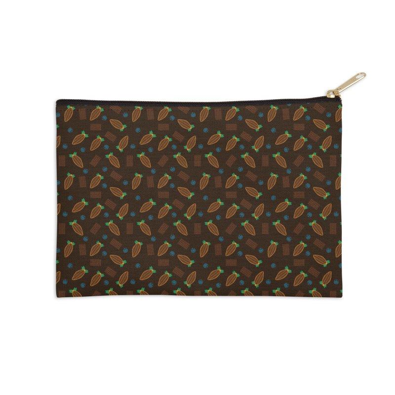 Xocolatl Cocoa Pattern Accessories Zip Pouch by eligodesign's Artist Shop