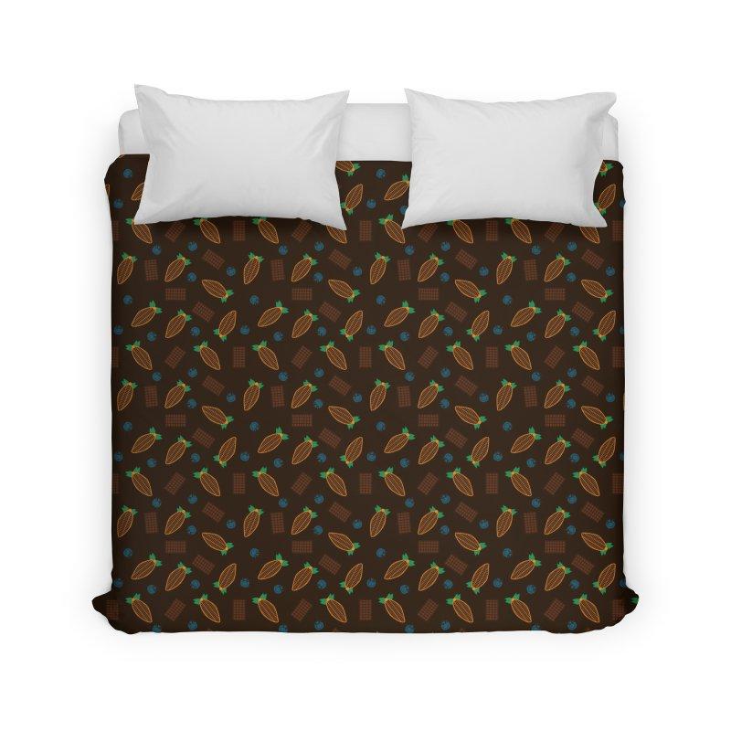 Xocolatl Cocoa Pattern Home Duvet by eligodesign's Artist Shop