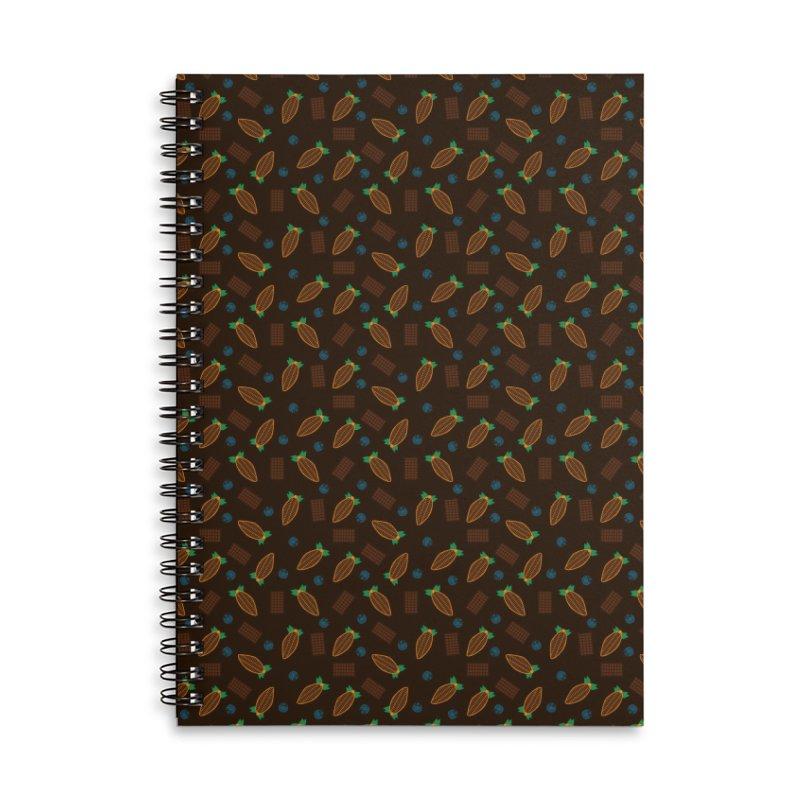 Xocolatl Cocoa Pattern Accessories Notebook by eligodesign's Artist Shop