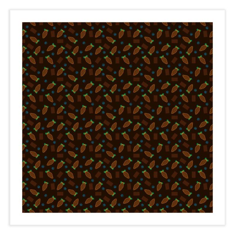 Xocolatl Cocoa Pattern Home Fine Art Print by eligodesign's Artist Shop