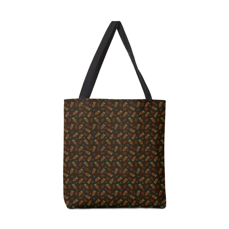 Xocolatl Cocoa Pattern Accessories Bag by eligodesign's Artist Shop