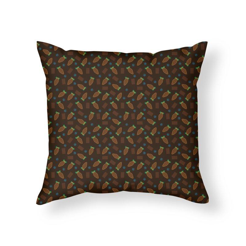 Xocolatl Cocoa Pattern Home Throw Pillow by eligodesign's Artist Shop