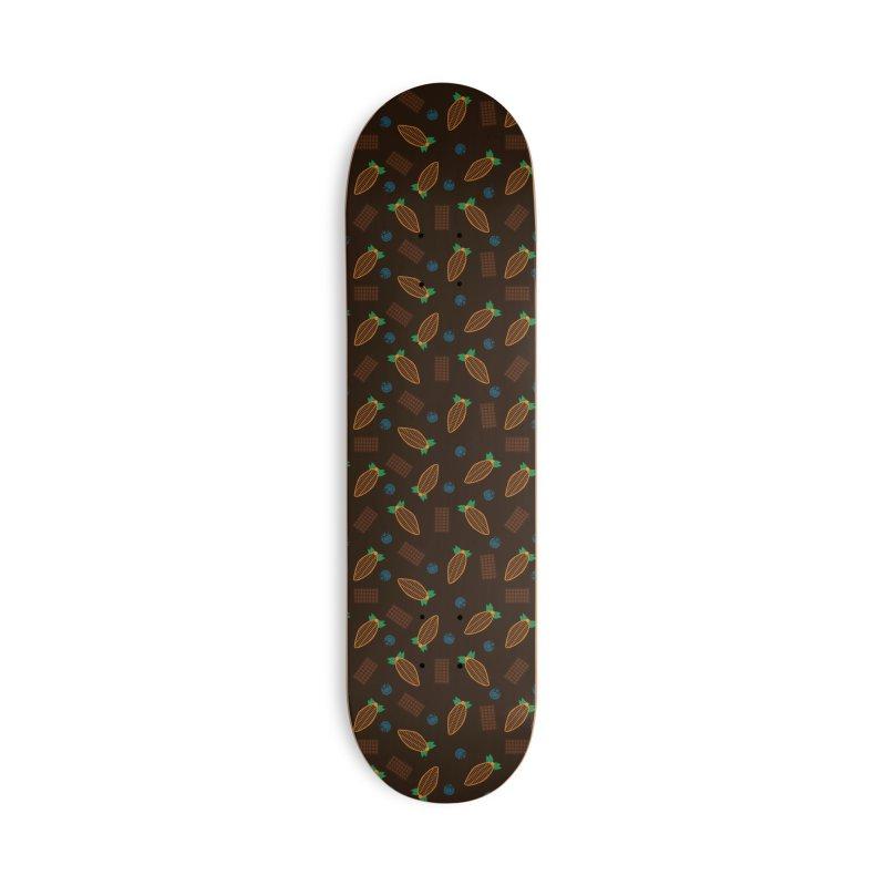 Xocolatl Cocoa Pattern Accessories Skateboard by eligodesign's Artist Shop