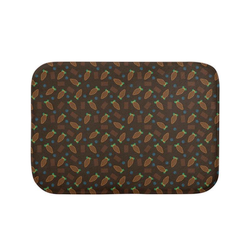 Xocolatl Cocoa Pattern Home Bath Mat by eligodesign's Artist Shop