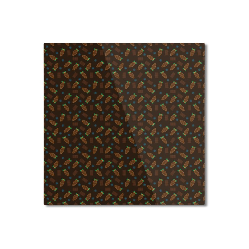 Xocolatl Cocoa Pattern Home Mounted Aluminum Print by eligodesign's Artist Shop