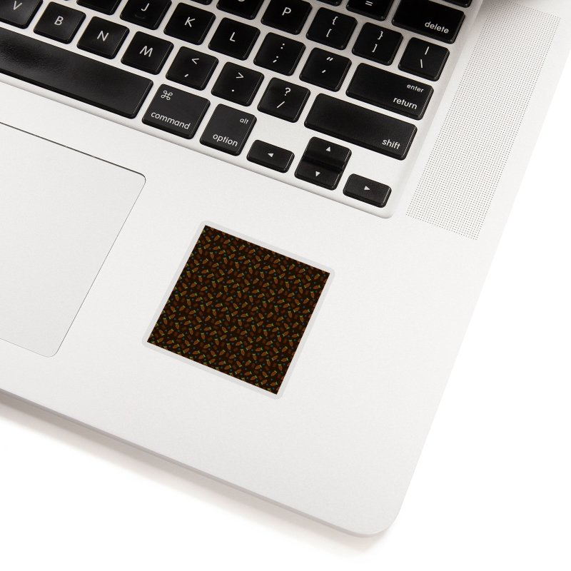 Xocolatl Cocoa Pattern Accessories Sticker by eligodesign's Artist Shop