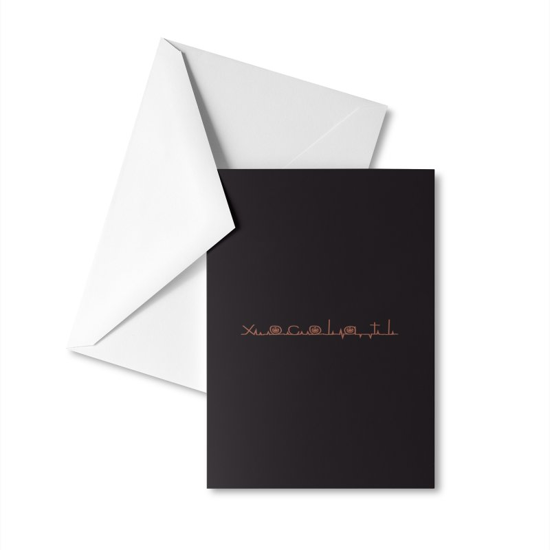 Xocolatl Heartbeat Accessories Greeting Card by eligodesign's Artist Shop
