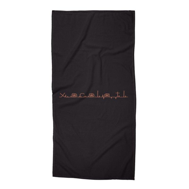 Xocolatl Heartbeat Accessories Beach Towel by eligodesign's Artist Shop