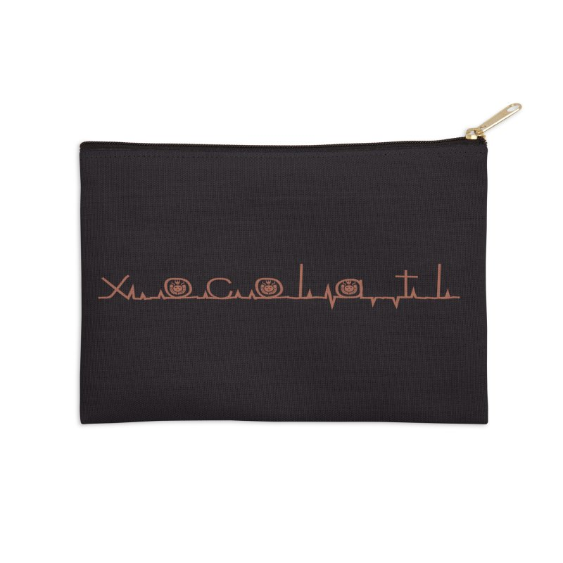 Xocolatl Heartbeat Accessories Zip Pouch by eligodesign's Artist Shop