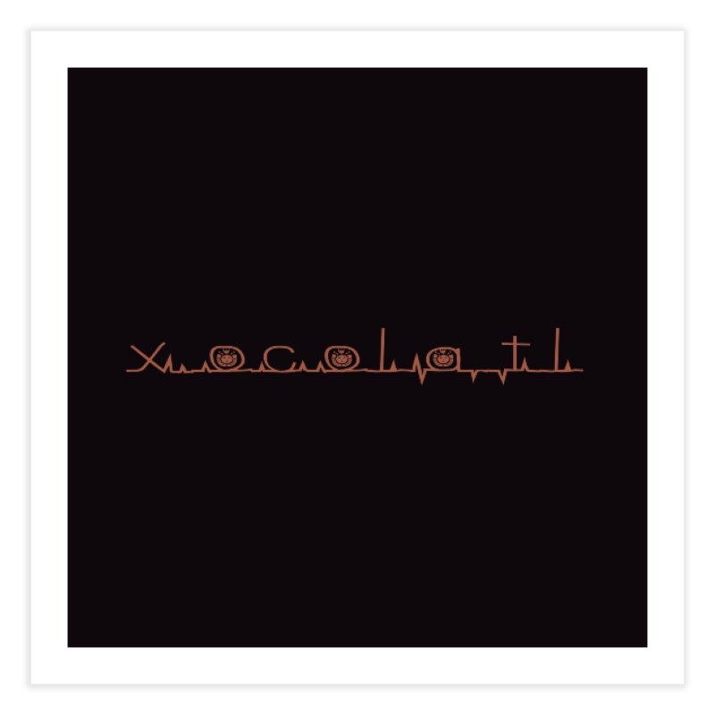 Xocolatl Heartbeat Home Fine Art Print by eligodesign's Artist Shop
