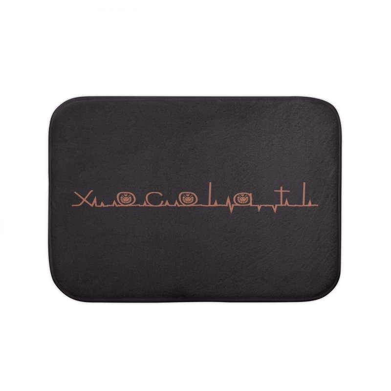 Xocolatl Heartbeat Home Bath Mat by eligodesign's Artist Shop