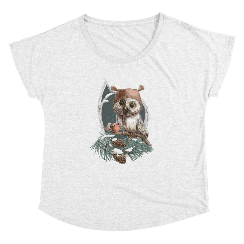 Winter owl in a cute hat   by elinakious's Artist Shop