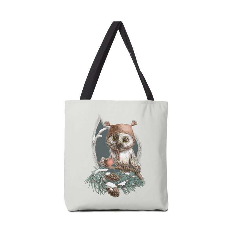 Winter owl in a cute hat Accessories Bag by elinakious's Artist Shop