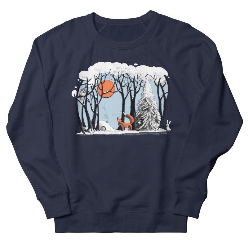 Winter landscape with fox and owl Women's Sweatshirt by elinakious's Artist Shop