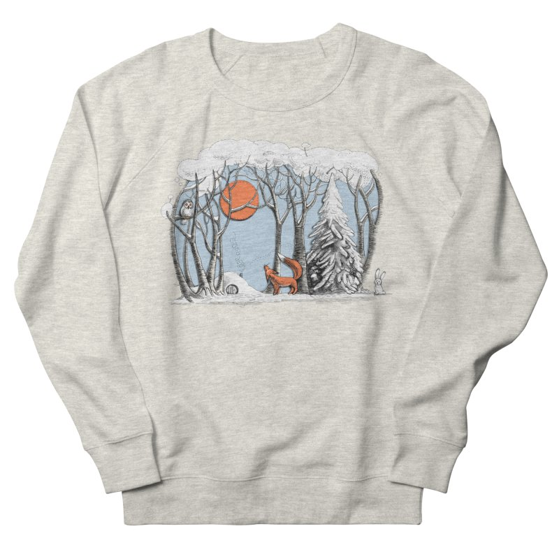 Winter landscape with fox and owl Women's Sweatshirt by elinakious's Artist Shop