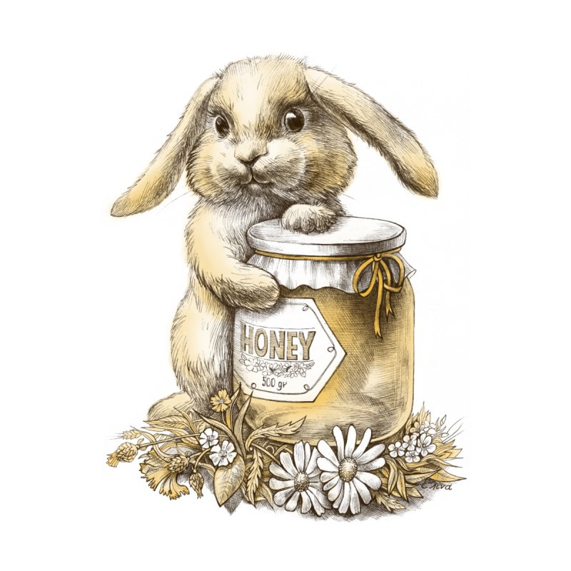 Honey bunny by elinakious's Artist Shop