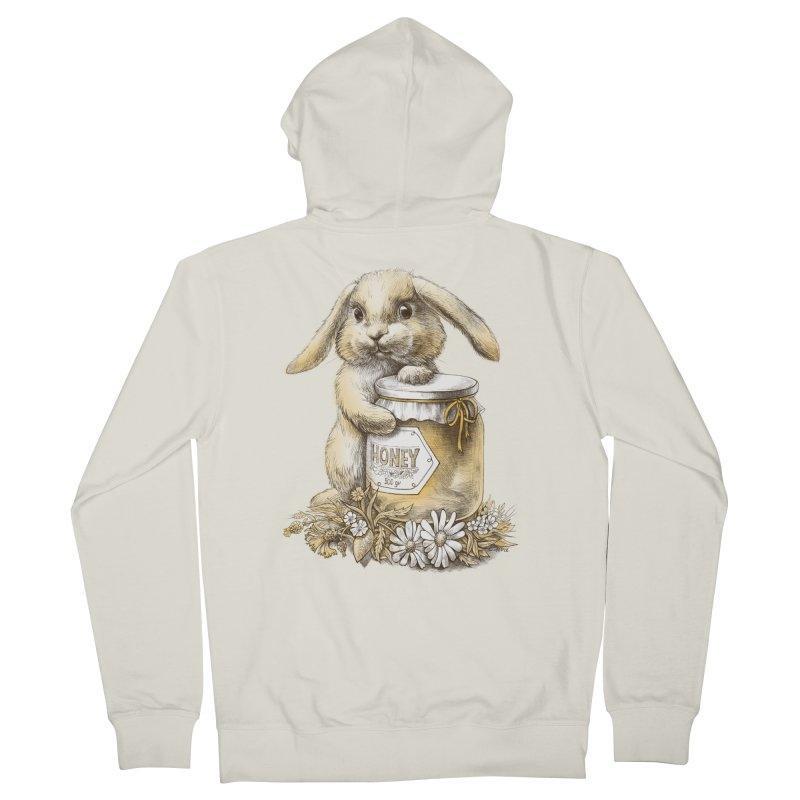 Honey bunny Women's Zip-Up Hoody by elinakious's Artist Shop