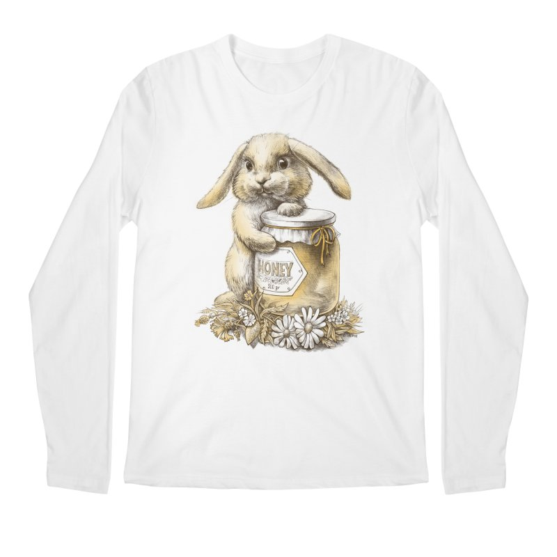 Honey bunny Men's Longsleeve T-Shirt by elinakious's Artist Shop