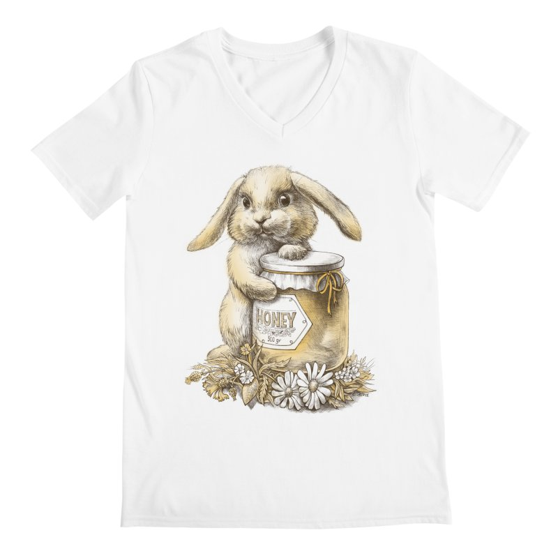 Honey bunny Men's V-Neck by elinakious's Artist Shop