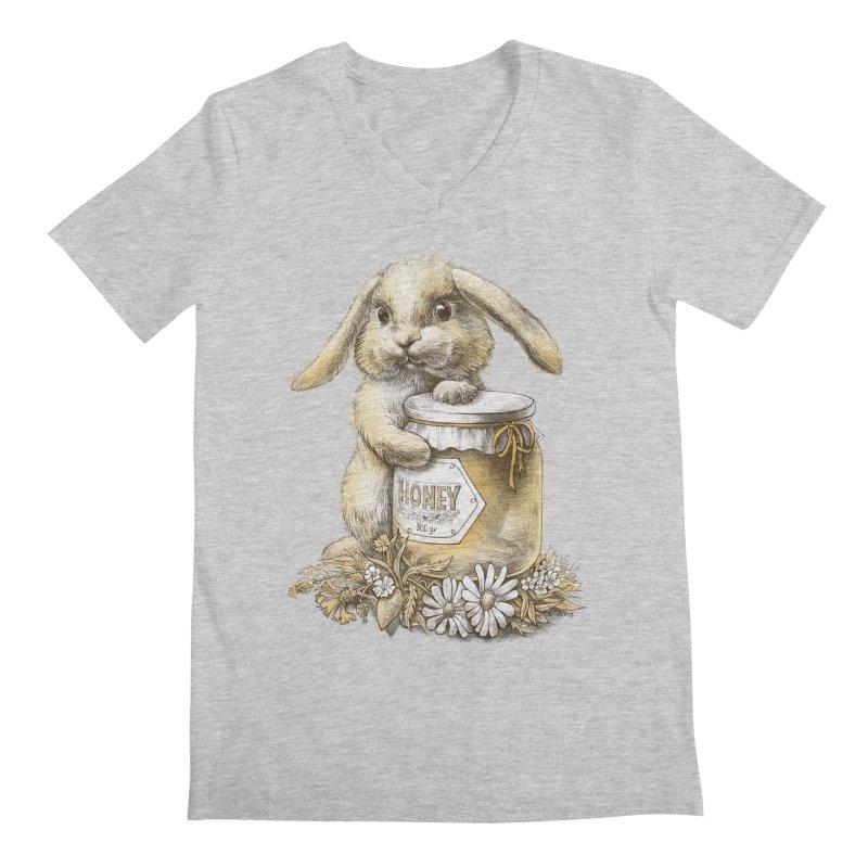 Honey bunny Men's V-Neck by elinakious's Artist Shop