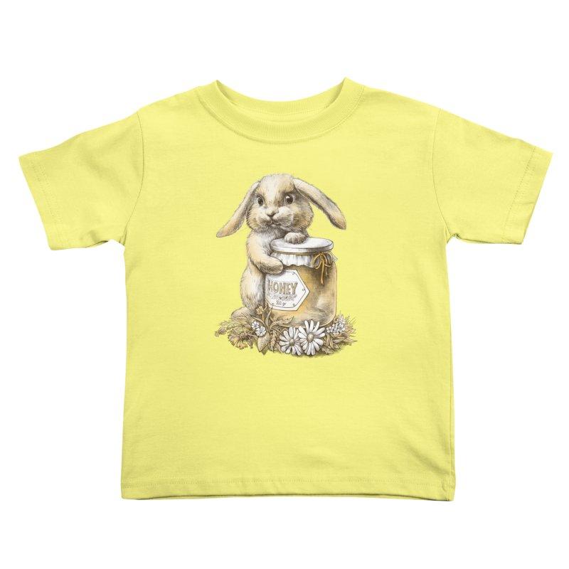 Honey bunny Kids Toddler T-Shirt by elinakious's Artist Shop