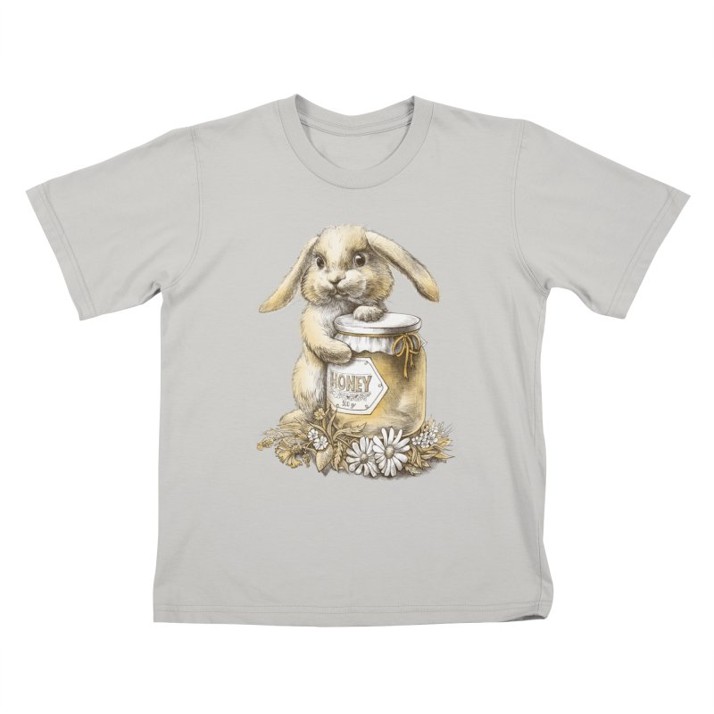 Honey bunny Kids T-shirt by elinakious's Artist Shop