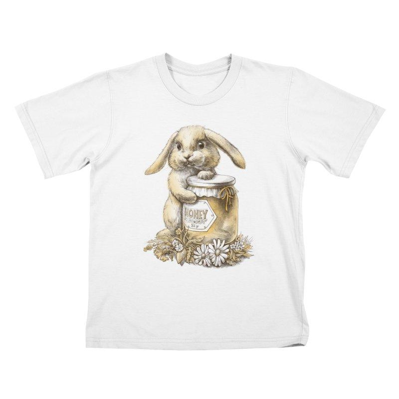 Honey bunny Kids T-shirt by elinakious's Artist Shop