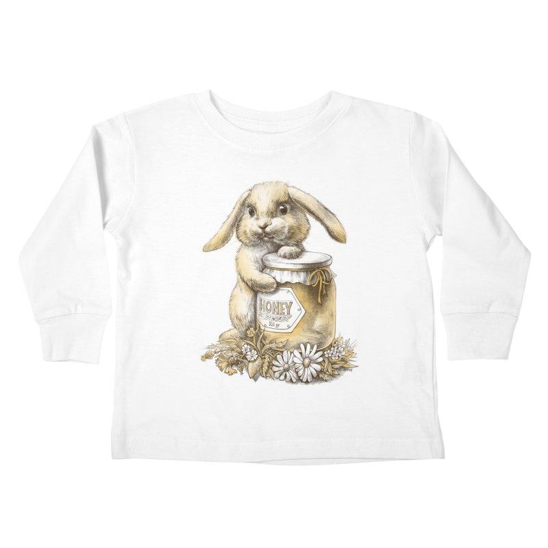 Honey bunny Kids Toddler Longsleeve T-Shirt by elinakious's Artist Shop