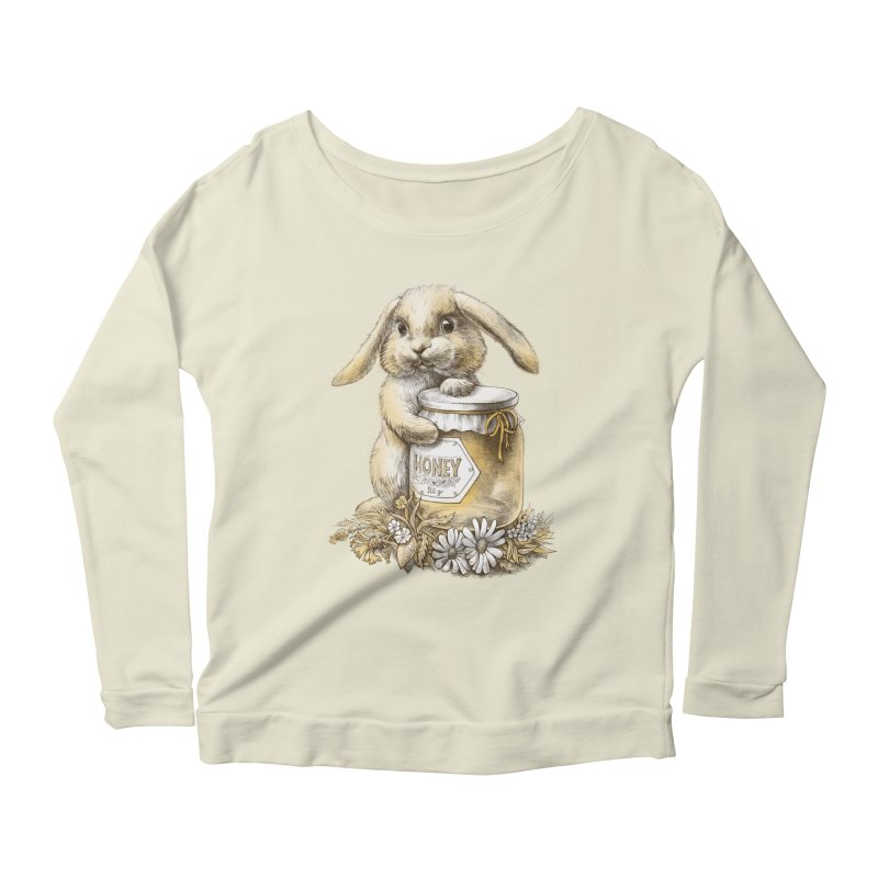 Honey bunny Women's Longsleeve Scoopneck  by elinakious's Artist Shop
