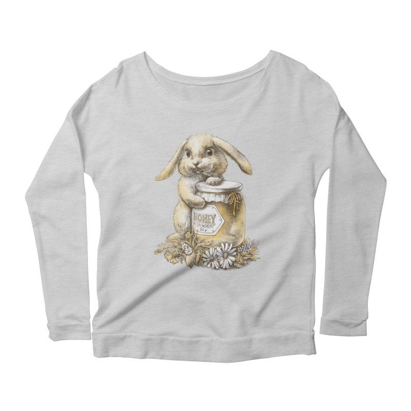 Honey bunny Women's Longsleeve Scoopneck  by elinakious's Artist Shop