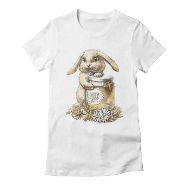 Honey bunny Women's Fitted T-Shirt by elinakious's Artist Shop