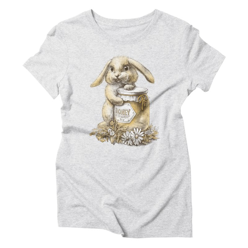 Honey bunny Women's Triblend T-shirt by elinakious's Artist Shop