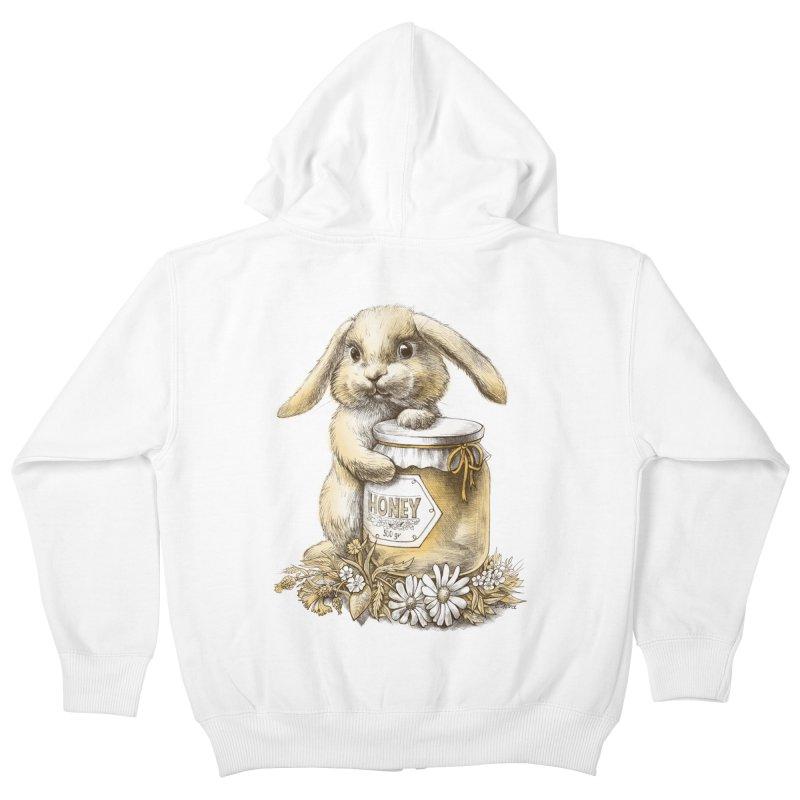 Honey bunny Kids Zip-Up Hoody by elinakious's Artist Shop