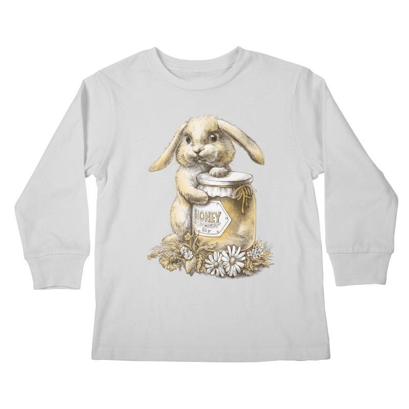 Honey bunny Kids Longsleeve T-Shirt by elinakious's Artist Shop