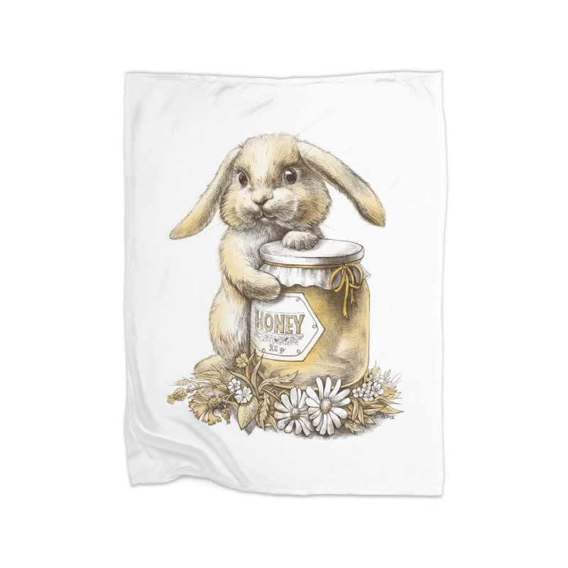 Honey bunny Home Blanket by elinakious's Artist Shop